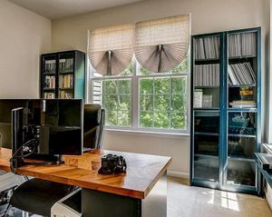 Office Desk and Two Glass Book Shelves for Sale in Severn, MD