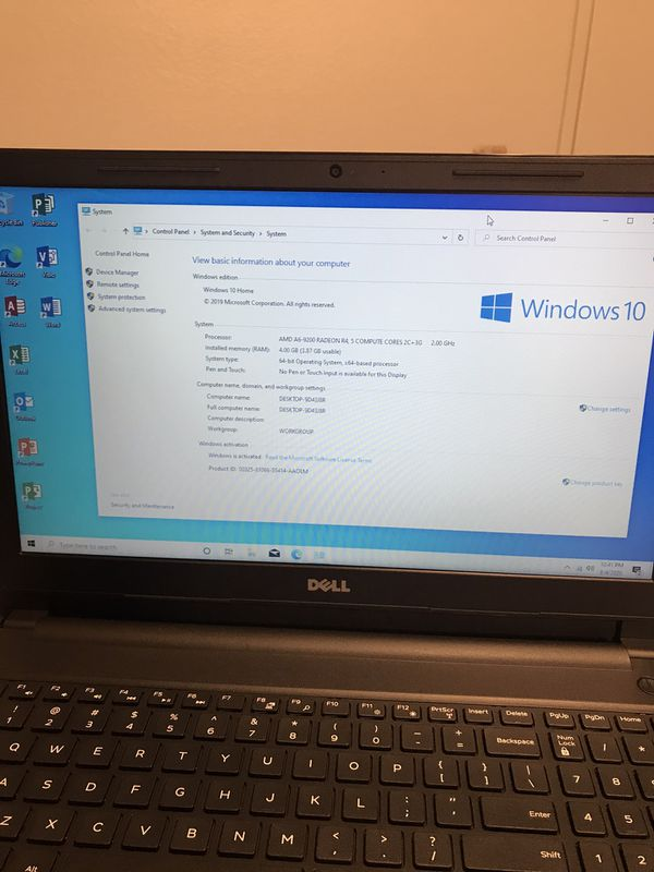 Laptop with Microsoft office 2019 full activated