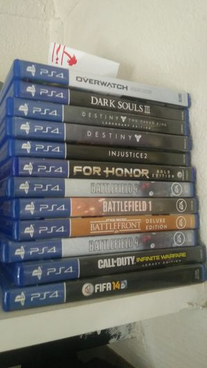 Ps4 games for sell(no trade) for Sale in Lodi, CA