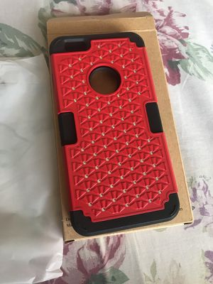 Red & Black case with crystals for iPhone 6 Plus for Sale in Miami, FL