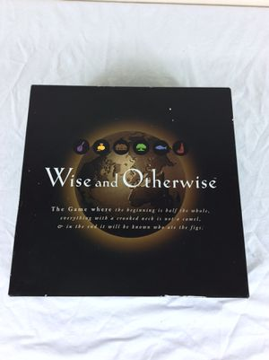 1997 Wise and Otherwise Board Game - Around the world proverbs old sayings for Sale in Severn, MD
