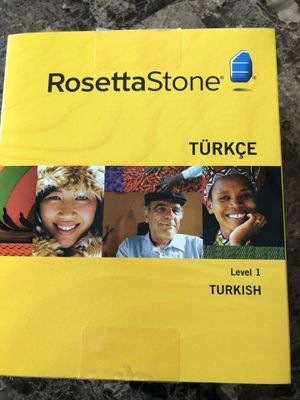 Rosetta Stone Turkish Level 1 for Sale in Lenexa, KS