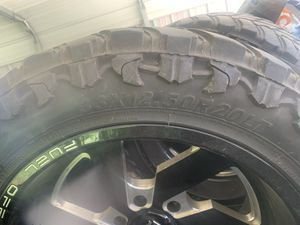 FUEL off-road rims with ATTURO MT tires for Sale in Tyler, TX
