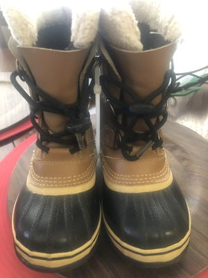 Sorel Leather snow boots kids size 1 for Sale in Fontana, CA