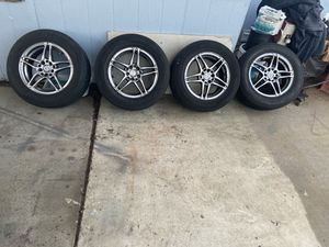 TIRES AND RIMS 4 - ALL for 80.00 Size 15's for Sale in El Cajon, CA