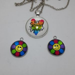 Gay pride/ necklace/charms for Sale in Tacoma, WA