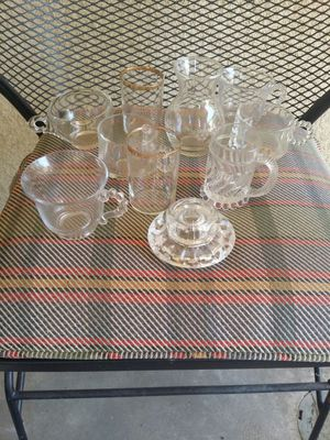 Collection of vintage 1950s and 60s glass items some very old for Sale in Clovis, CA