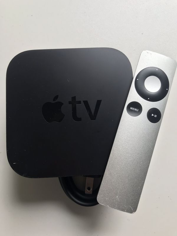 Apple TV with remote and power cord