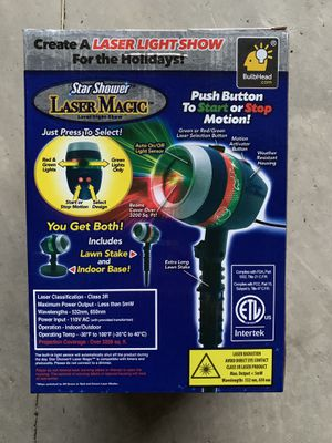 Christmas projector light Laser Show Spot light for Sale in New Hill, NC