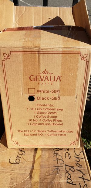 Gevalia G92 Programmable 12 Cup Black Coffeemaker -- NEW IN BOX for Sale in Washington, DC