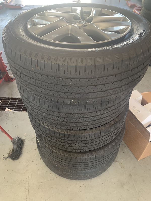 Rims 18 inch (infinity) with tire ( 245 / 60 / 18)