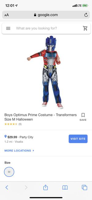 transformers costume for Sale in Tulare, CA