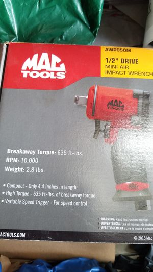 Brand new impact 1/ 2mac tools for Sale in Santa Ana, CA
