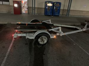 Boat/single or double jet ski trailer galvanized 8ft by 16ft for Sale in Lakewood, CA