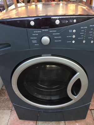 GE, working washer, gray color, hold 3 sec to lock control, soil level, spin speed, wash temp $ 250.00 OBO/ se habla español for Sale in Portland, OR