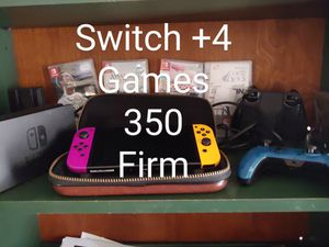 Nintendo switch +4games for Sale in Glendale, AZ