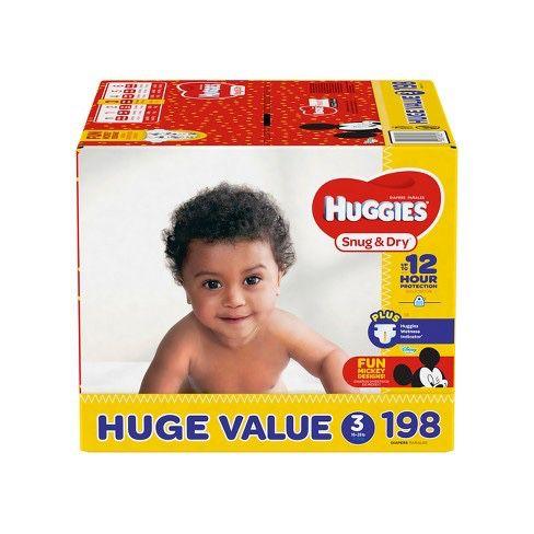 Huggies Size 3, 198 Count