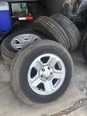 2017 Jeep Wrangler wheels and tires. Goodyear tires for Sale in Austin, TX