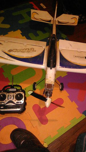 Remote control airplane with remote for Sale in Fresno, CA