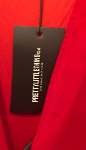Pretty little things red maxi side spite size 10 is for Sale in Saucier, MS