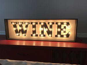 Wine sign, lighted for Sale in Virginia Beach, VA