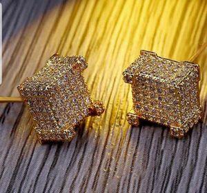 Earrings For Men Stud Gold earring diamond square for Sale in Dallas, TX