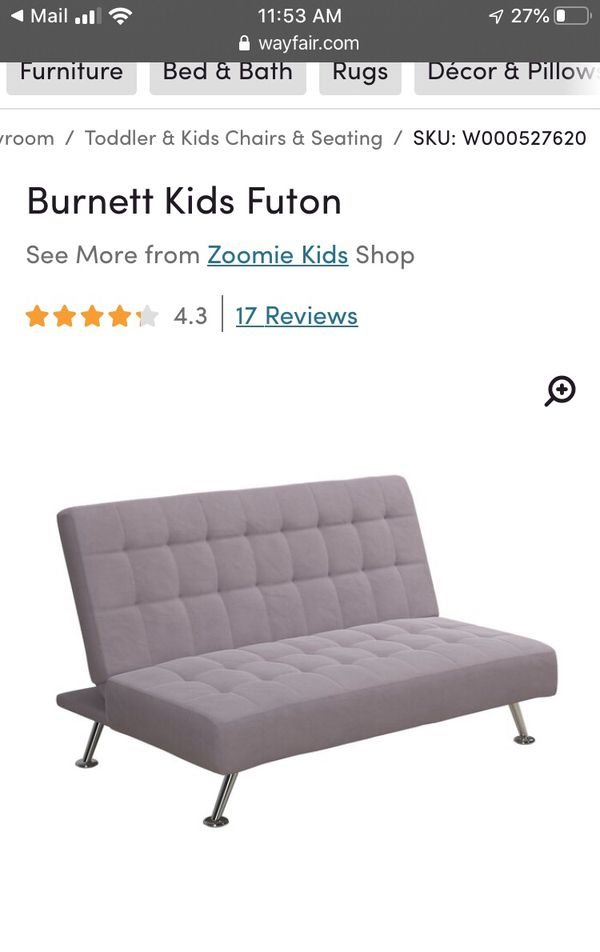 Child's futon for girl