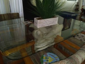 Glass top table with Dolphin pedestal for Sale in Clearwater, FL