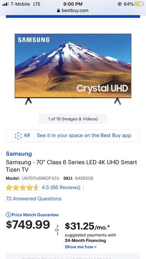 """70"""" Samsung smart TV for Sale in Bedford Park, IL"""