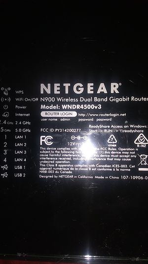 The NETGEAR N900 v3 Wireless Dual Band Gigabit Router delivers the ultimate in WiFi performance and range. for Sale in Tempe, AZ