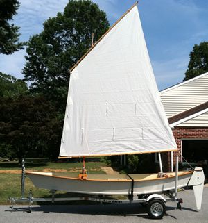 16' Wooden Sailboat (boat) and Galvanized Trailer for Sale in Wilmington, DE