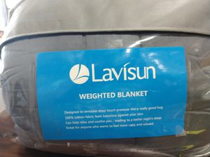 Lavisun weighted blanket (DB) for Sale in Upland, CA