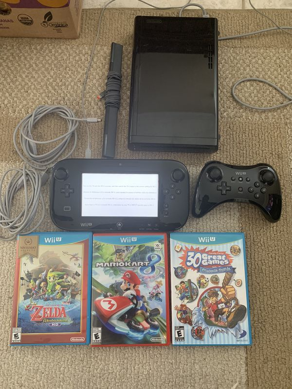 Nintendo Wii U system with 3 games