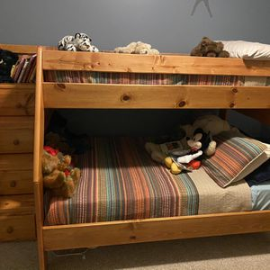 Bunk Bed With 4 Drawer Staircase for Sale in Garner, NC