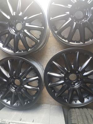 4 Aluminum Rims 16inch 5x100 lug pattern Satin black for Sale in Montclair, CA