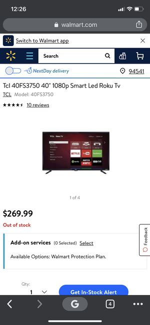 "TCL 40"" 1080p Smart Led Roku Tv for Sale in Concord, CA"