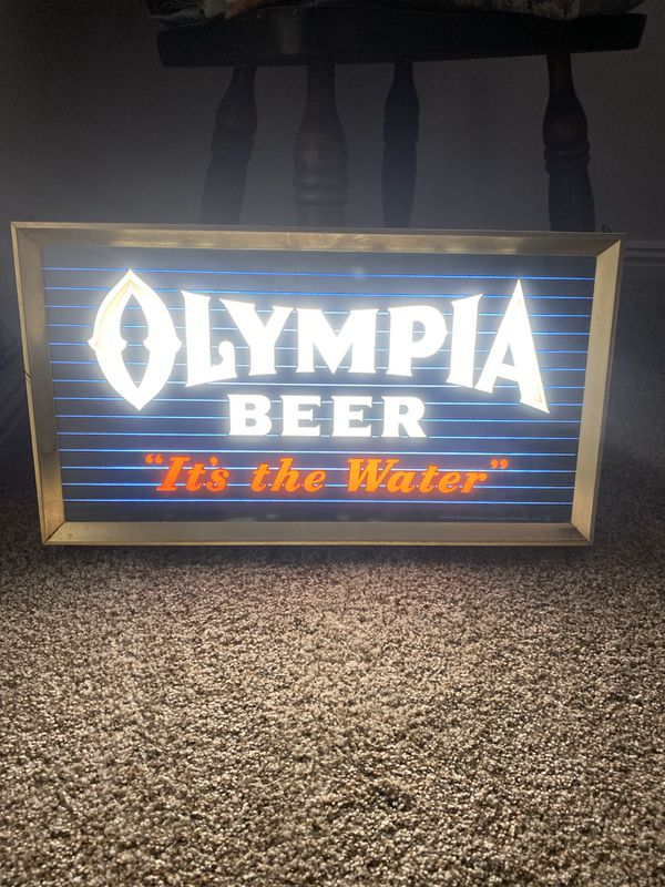 Rare 1950s Olympia Beer lighted Sign for Sale in San