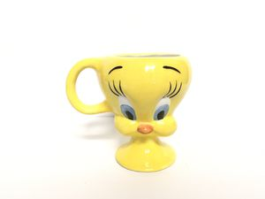 Vintage Warner Bros 2000 Tweety Bird Porcelain Mug 3D Head Cup Looney Tunes for Sale in Des Plaines, IL