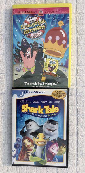 The SpongeBob Squarepants Movie & Shark Tale DVD Bundle for Sale in Fresno, CA