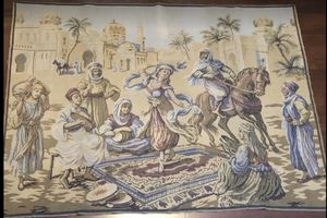 "Vintage Arabian Persian Tapesty Big 4'1"" x 5'4"" for Sale in New Holland, PA"