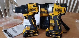 """Dewalt 20v max 1/4 brushless impact driver 20v max 1/2"""" brushless drill driver 2 batterys and charger for Sale in Rocky Mount, NC"""
