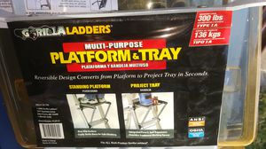 Gorilla Ladders Multi-Purpose Platform + Tray for Sale in Holiday, FL