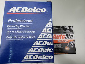 AC Delco Spark Plug Wire Set With six (6) Autolite Performance Spark Plugs for Sale in Whittier, CA