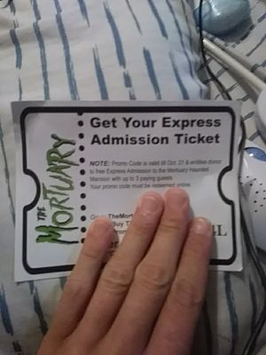 Ticket to mortuary haunted house new Orleans for Sale in Waveland, MS