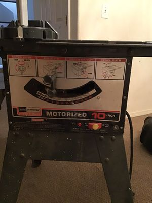 Craftsman motorized 10 inch table saw for Sale in Kent, WA