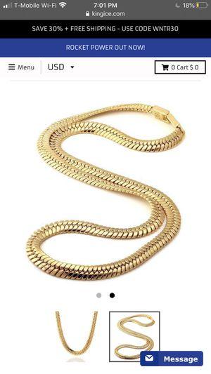 Gold Herringbone chain for Sale in Riverbank, CA