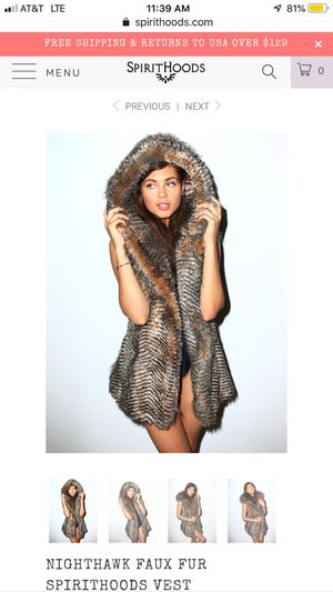 NIGHTHAWK FAUX FUR SPIRITHOODS VEST for Sale in Gig Harbor, WA