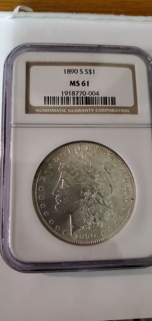 1890 S Morgan silver dollar graded as a MS61! for Sale in Riverton, WY
