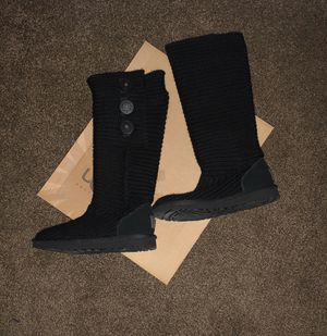 UGG Boots- Classy Cardy, Women's Size 6 Black for Sale in Rancho Cucamonga, CA
