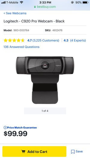 Logitech webcam for Sale in Corpus Christi, TX